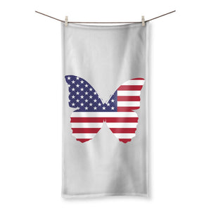 Usa Flag Butterfly Beach Towel Homeware Flagdesignproducts.com