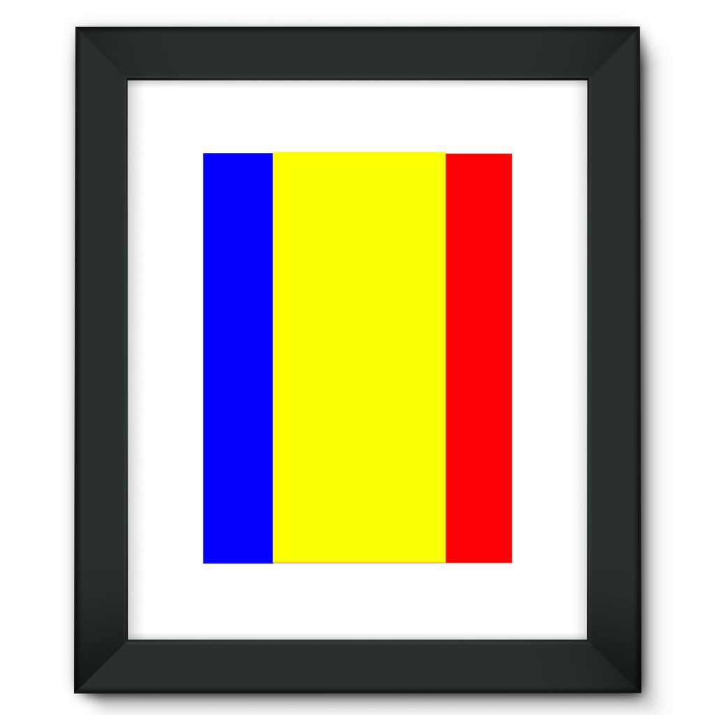 Flag Of Chad Framed Fine Art Print Wall Decor Flagdesignproducts.com