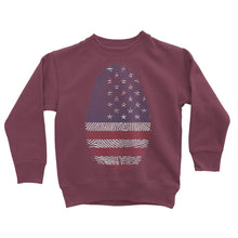 Usa Flag Finger Print Kids Sweatshirt Apparel Flagdesignproducts.com