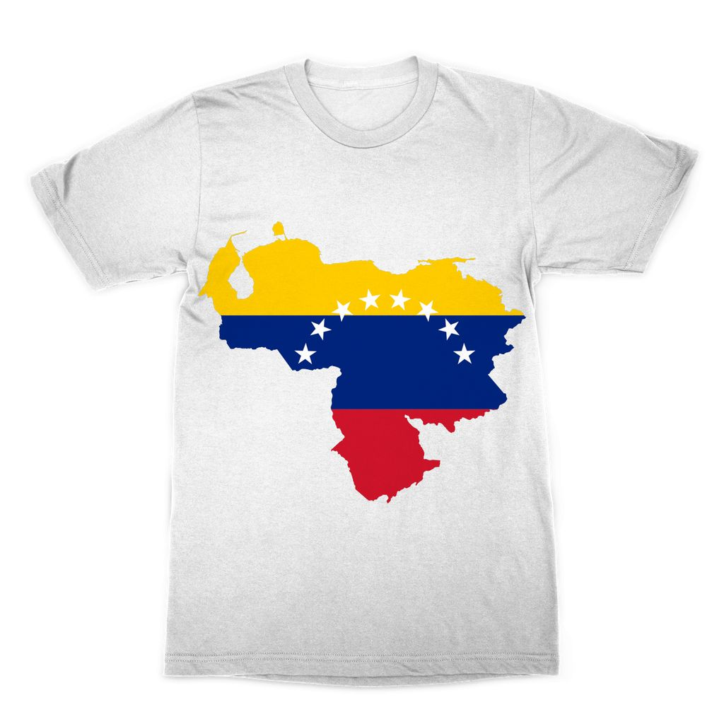 Venezuela Continent Flag Sublimation T-Shirt Apparel Flagdesignproducts.com