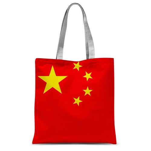 Basic China Flag Sublimation Tote Bag Accessories Flagdesignproducts.com