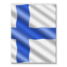 Waving Finland Flag Stretched Canvas Wall Decor Flagdesignproducts.com