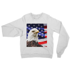 American Eagle And Usa Flag Heavy Blend Crew Neck Sweatshirt Apparel Flagdesignproducts.com