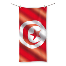 Waving Tunisia Flag Beach Towel Homeware Flagdesignproducts.com