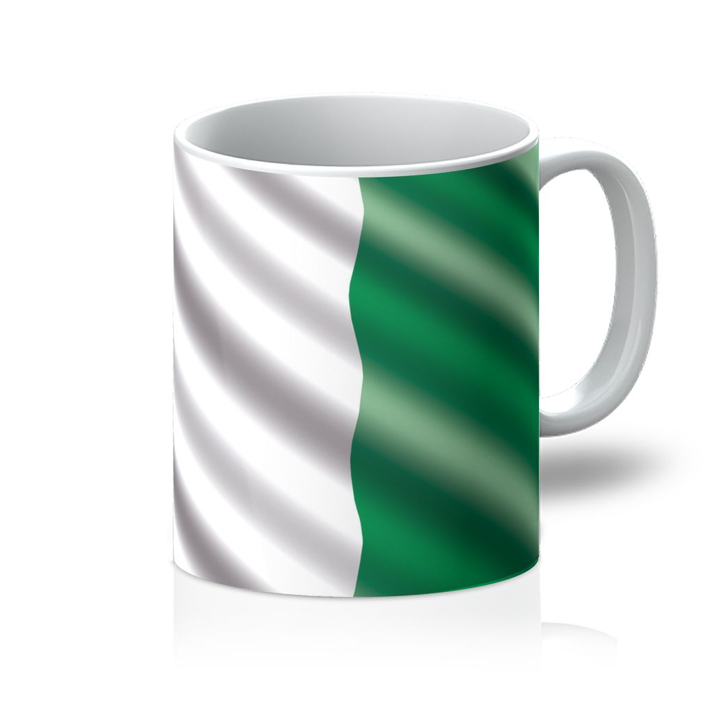 Waving Nigeria Flag Mug Homeware Flagdesignproducts.com