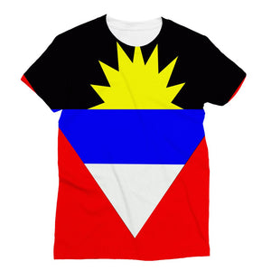 Flag Of Antigua And Barbuda Sublimation T-Shirt Apparel Flagdesignproducts.com
