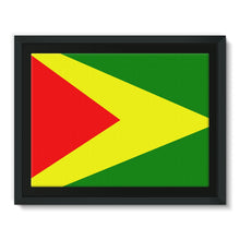 Flag Of Guyana Framed Canvas Wall Decor Flagdesignproducts.com