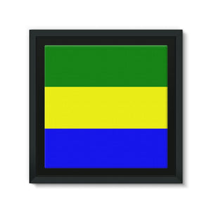 Flag Of Gabon Framed Canvas Wall Decor Flagdesignproducts.com
