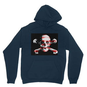 Usa Flag Pirate Heavy Blend Hooded Sweatshirt Apparel Flagdesignproducts.com