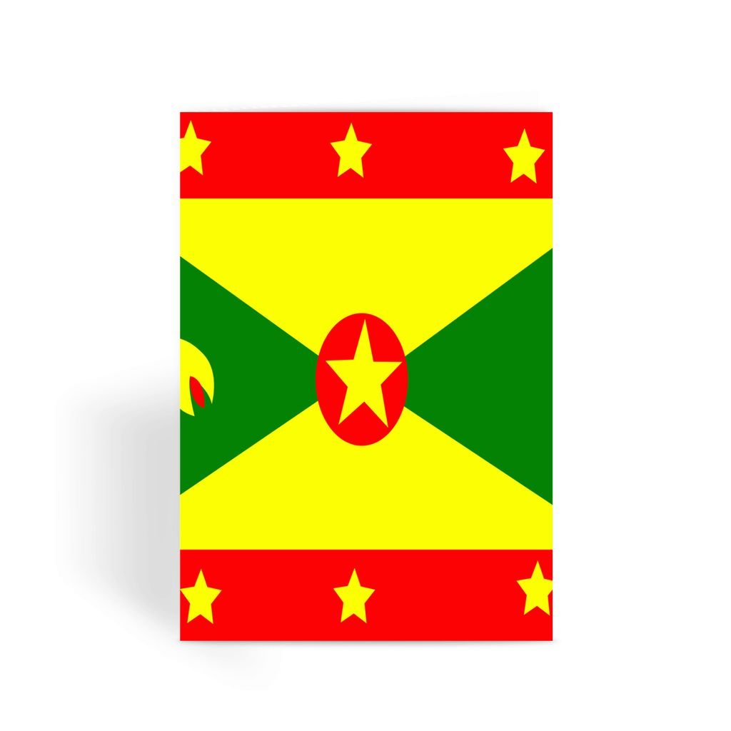 Flag Of Grenada Greeting Card Prints Flagdesignproducts.com