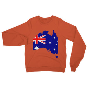 Australia Continent Flag Heavy Blend Crew Neck Sweatshirt Apparel Flagdesignproducts.com