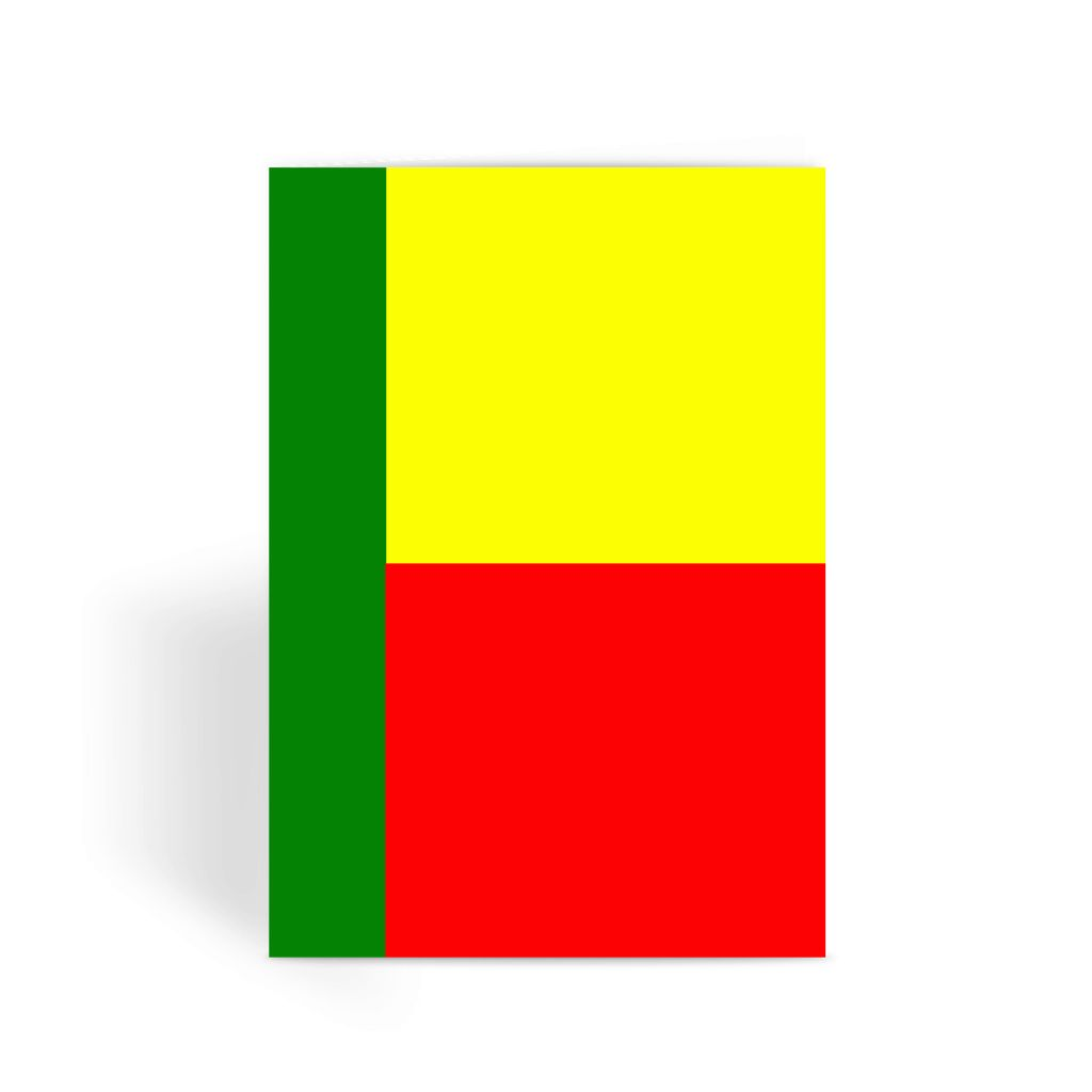 Flag Of Benin Greeting Card Prints Flagdesignproducts.com