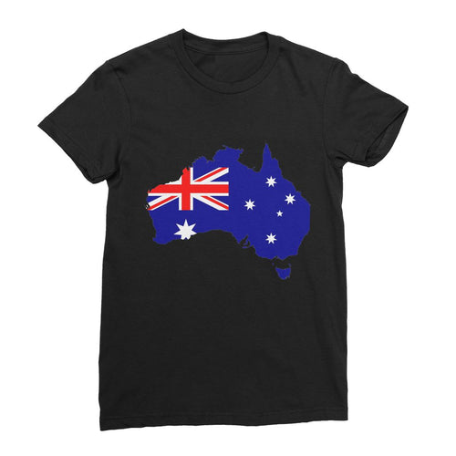 Australia Continent Flag Womens Fine Jersey T-Shirt Apparel Flagdesignproducts.com
