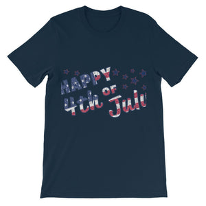 4th July USA Text Flag Kids' T-Shirt