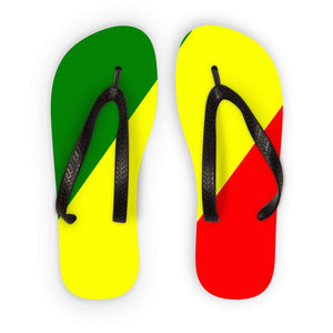Flag Of The Rep Congo Flip Flops Accessories Flagdesignproducts.com