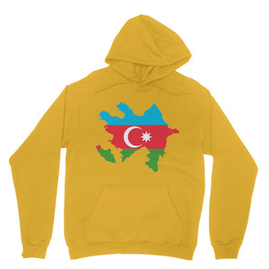 Azerbaijan Continent Flag Heavy Blend Hooded Sweatshirt Apparel Flagdesignproducts.com