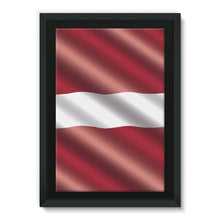 Waving Latvia Flag Framed Canvas Wall Decor Flagdesignproducts.com