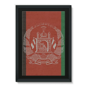 Afganistan Stone Wall Flag Framed Eco-Canvas Wall Decor Flagdesignproducts.com