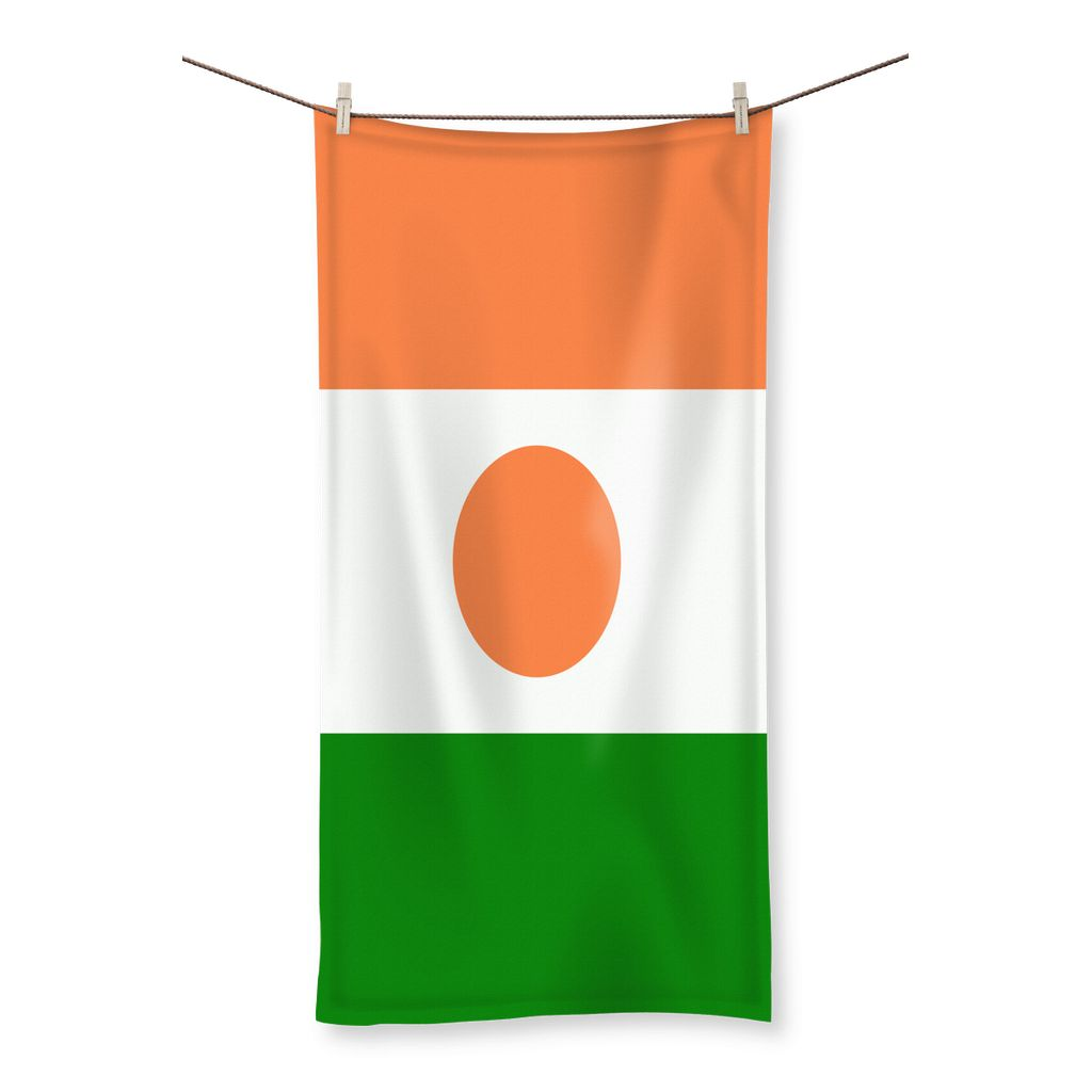 Flag Of Niger Beach Towel Homeware Flagdesignproducts.com