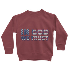 In God We Trust Usa Flag Kids Sweatshirt Apparel Flagdesignproducts.com