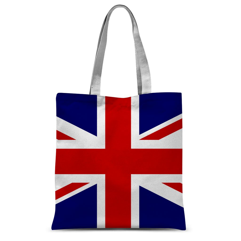 Basic United Kingdom Flag Sublimation Tote Bag Accessories Flagdesignproducts.com