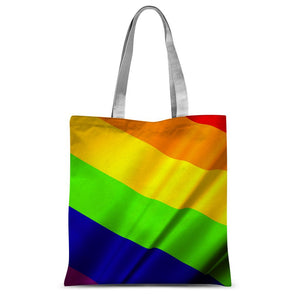 Waving Rainbow Lgbt Flag Sublimation Tote Bag Accessories Flagdesignproducts.com