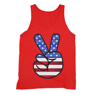 America Fingers Flag Fine Jersey Tank Top Apparel Flagdesignproducts.com