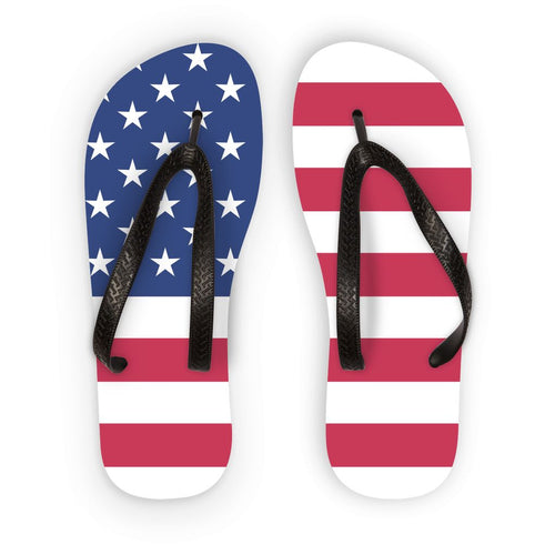 Basic Usa Flag Flip Flops Accessories Flagdesignproducts.com