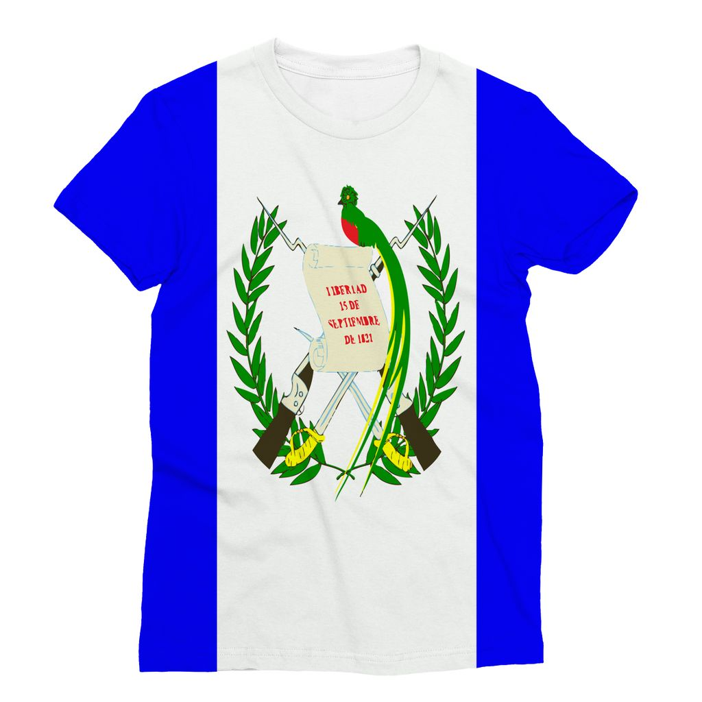 Flag Of Guatemala Sublimation T-Shirt Apparel Flagdesignproducts.com