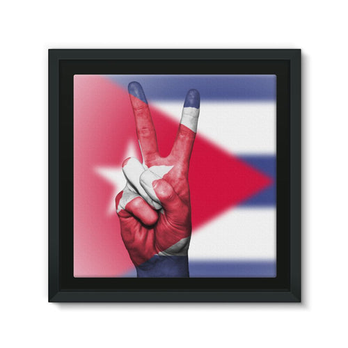 Cuba Flag And Hand Framed Eco-Canvas Wall Decor Flagdesignproducts.com