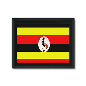 Flag Of Uganda Framed Eco-Canvas Wall Decor Flagdesignproducts.com