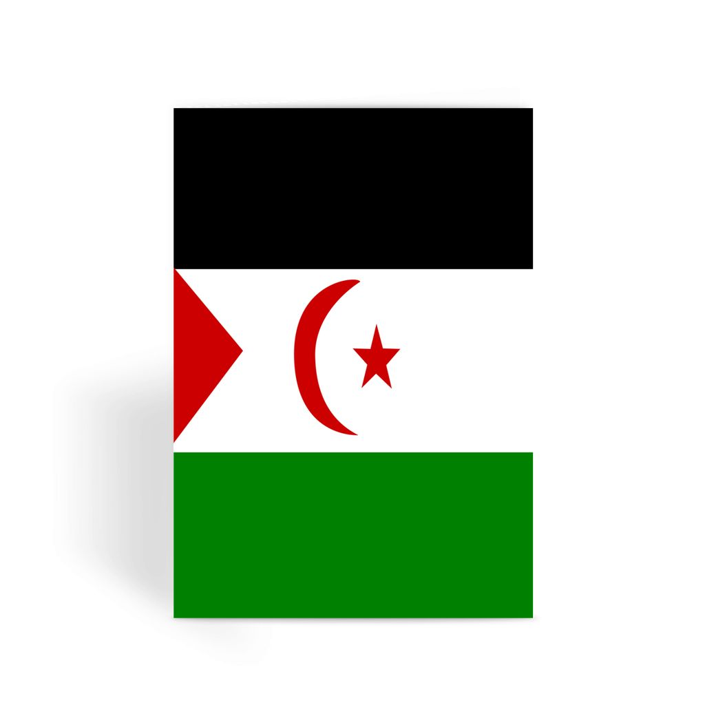 Flag Of Western Sahara Greeting Card Prints Flagdesignproducts.com
