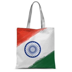 Watercolor India Flag Sublimation Tote Bag Accessories Flagdesignproducts.com