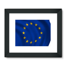 Waving Eu Flag Framed Fine Art Print Wall Decor Flagdesignproducts.com