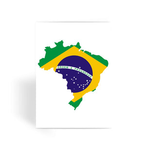 Brazil Continent Flag Greeting Card Prints Flagdesignproducts.com