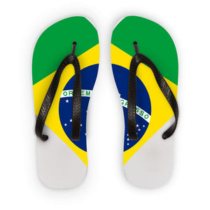 Brazil Heart Flag Flip Flops Accessories Flagdesignproducts.com