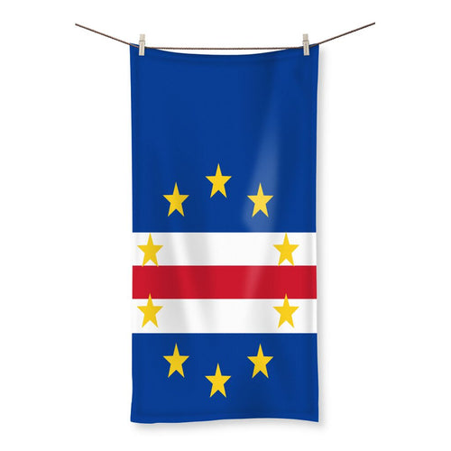 Flag Of Cape Verde Beach Towel Homeware Flagdesignproducts.com