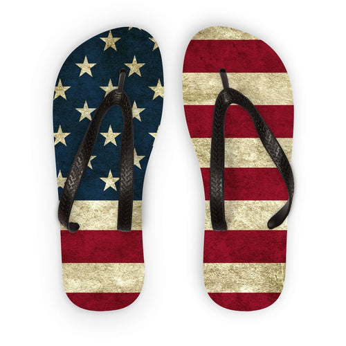 Grunge America Flag Flip Flops Accessories Flagdesignproducts.com