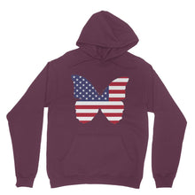 Usa Flag Butterfly Heavy Blend Hooded Sweatshirt Apparel Flagdesignproducts.com