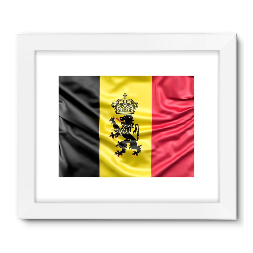 Fabric Belgium Flag Framed Fine Art Print – FlagDesignProducts