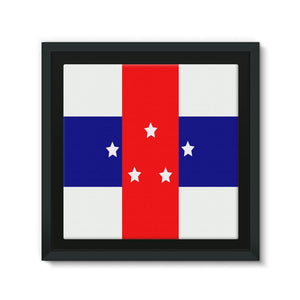 Flag Of The Netherlands Framed Eco-Canvas Wall Decor Flagdesignproducts.com