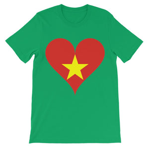 Vietnam Heart Flag Kids' T-Shirt