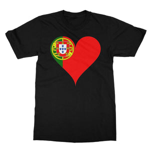 Portugal Heart Flag Softstyle Ringspun T-Shirt Apparel Flagdesignproducts.com