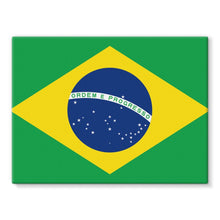 Basic Brazil Flag Stretched Canvas Wall Decor Flagdesignproducts.com