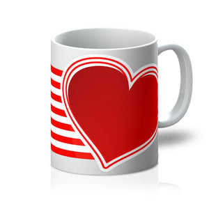Usa Flag And Heart Mug Homeware Flagdesignproducts.com