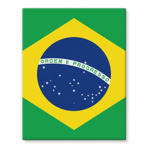 Basic Brazil Flag Stretched Eco-Canvas Wall Decor Flagdesignproducts.com