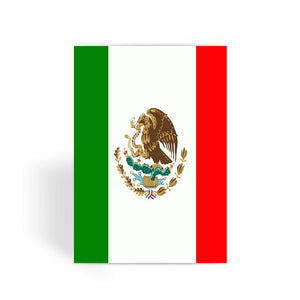 Flag Of Mexico Greeting Card Prints Flagdesignproducts.com