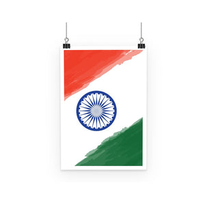Watercolor India Flag Poster Wall Decor Flagdesignproducts.com