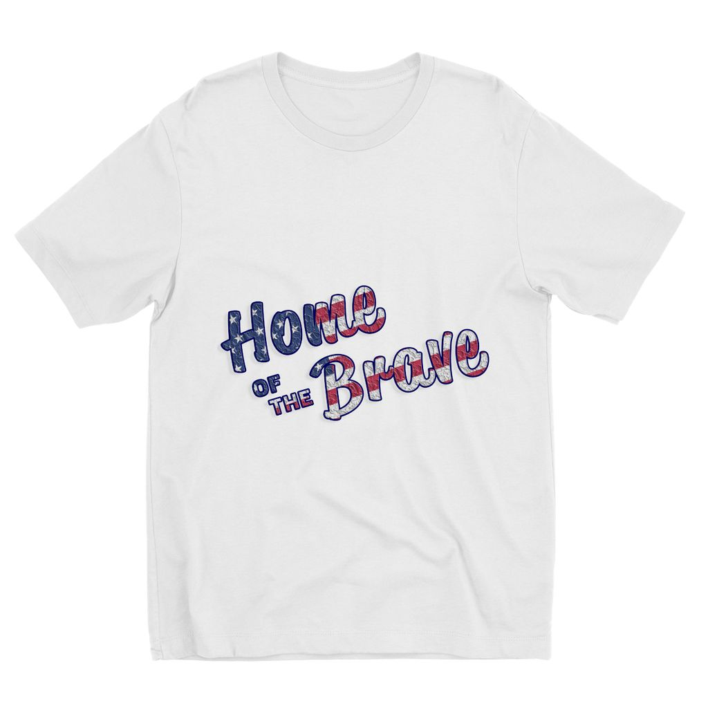 Home Of The Brave Usa Flag Kids Sublimation T-Shirt Apparel Flagdesignproducts.com