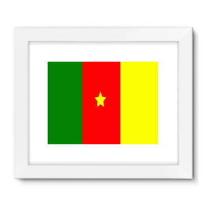 Flag Of Cameroon Framed Fine Art Print Wall Decor Flagdesignproducts.com